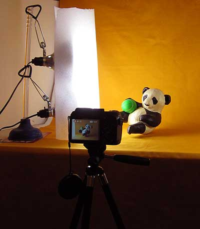 Studio, Showing Light Set-up
