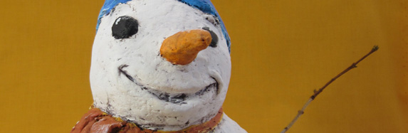 Paper Clay Tutorial Paper Mache Clay Snowman