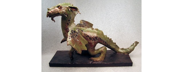 Paper Mache Green Sea Dragon - YouTube | 253x640