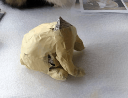 Paper Mache Lop-Eared Rabbit, Step 2
