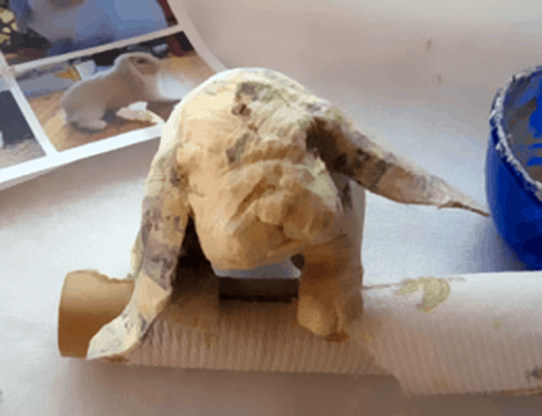 Paper Mache Lop-Eared Rabbit, Step 6