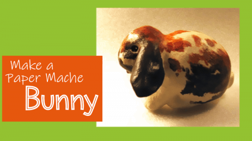 paper mache lop-eared bunny featured