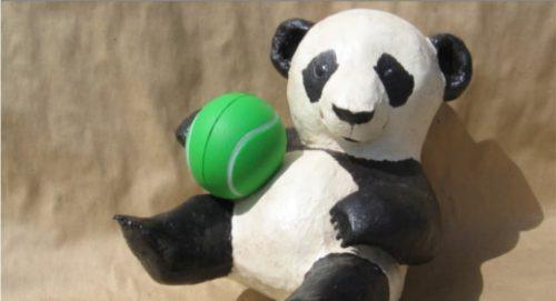 Pattern for a paper mache panda