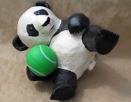 Playful paper mache panda you can make ultimate paper mache for What can you paper mache