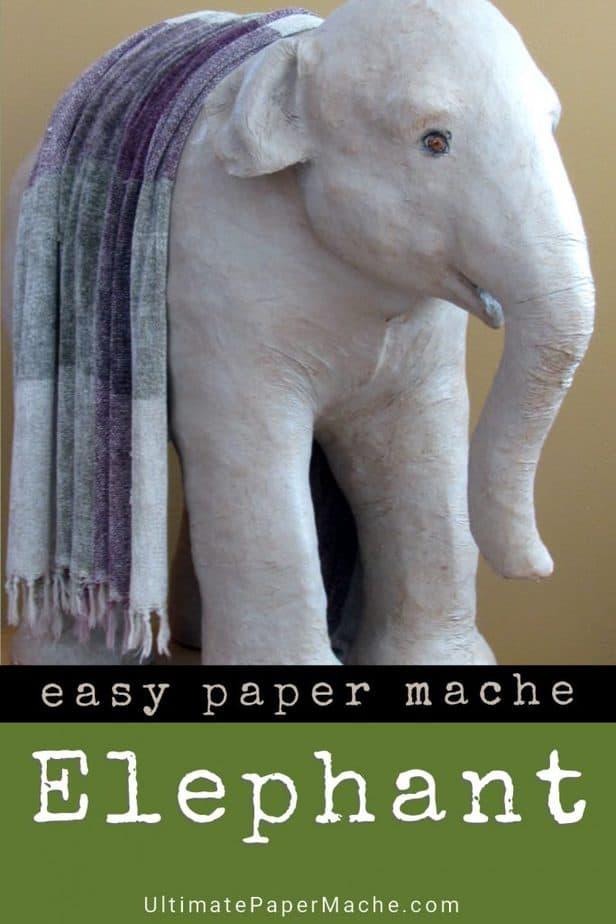Baby Indian elephant sculpture