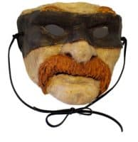 Paper Mache Outlaw Mask