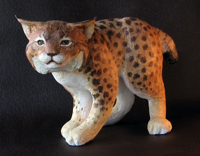 Bobcat Sculpture
