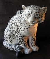 Snow Leopard Sculpture