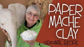 The original recipe for paper mache clay.