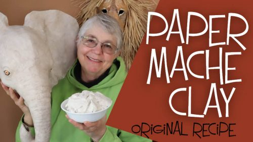 The original recipe for paper mache clay.