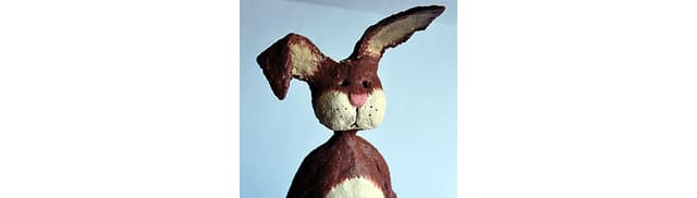 Paper Mache Easter Bunny - Guest Post