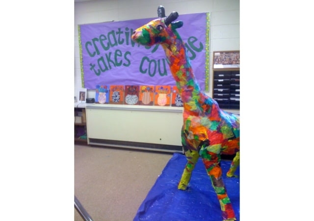 how to make a giraffe out of paper mache