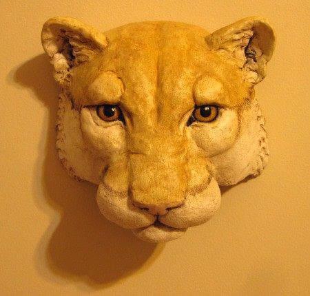 Paper Mache Cougar And Instant Paper Mache Recipe