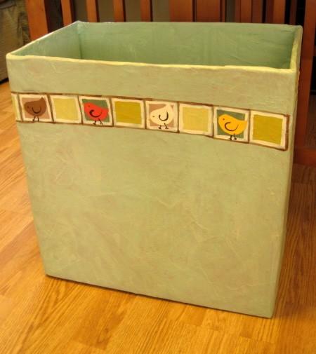 Paper Mache Wastepaper Basket
