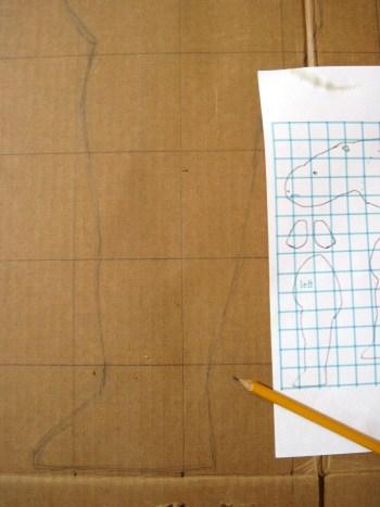 paper mache rhino pattern