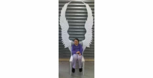 Paper Mache Angel Chair