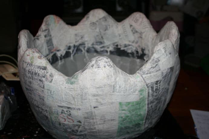 Step 3 - paper mache strips