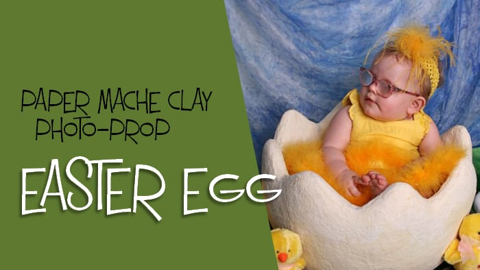 giant paper mache Easter egg photo prop