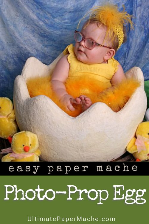 DIY photo prop egg for Easter baby photos