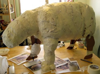 Paper Mache Rhino armature