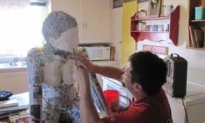 Michael Jacobson Paper Mache Figure Sculpture