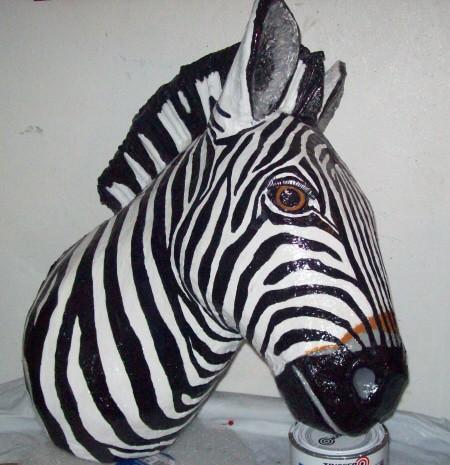 Lisa's Paper Mache Zebra