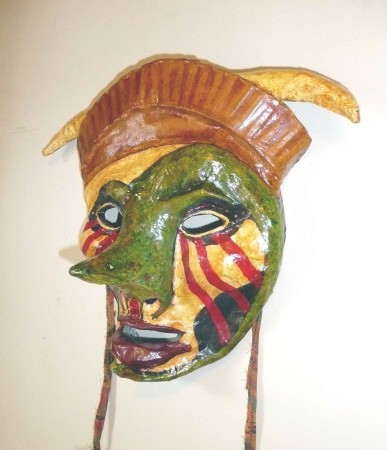 """Slither"" - Paper Mache Mask"