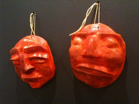 Paper mache masks japanese daruma dolls and plaster of for Finishing paper mache