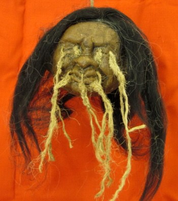 Shrunken Head, Made with Paper Mache