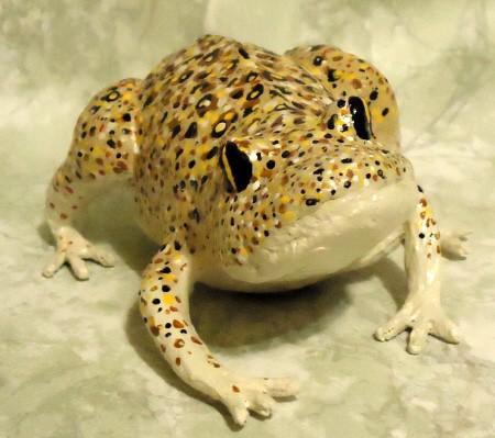 Paper Mache Frog by Carol Samford