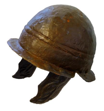 Paper Mache Iron Celtic Helmet