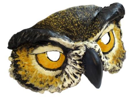 Paper Mache Owl Mask