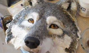 paper mache wolf mask video