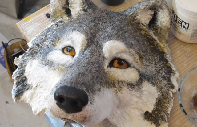 the wolf mask is done u2026  u2013 ultimate paper mache