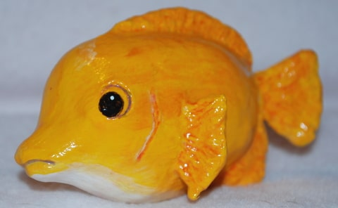 Reef Fish Made with Air Dry Clay