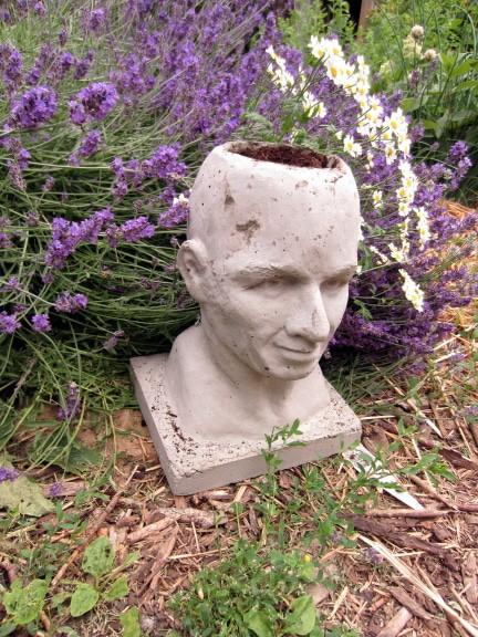 Concrete Pothead Planter