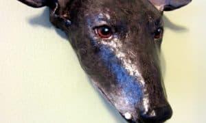 Paper Mache Greyhound Mask