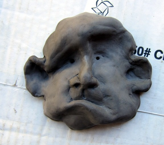 Barbecue Fired Clay Head