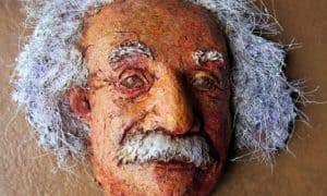 Paper Mache Einstein Display Mask
