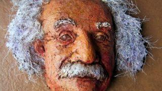 Paper Mache Einstein Display Mask