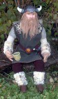 Paper Mache Viking Doll