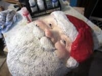 Paper Mache Santa made with Paper Mache Clay
