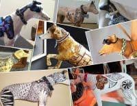 Paper Mache Greyhound Collage