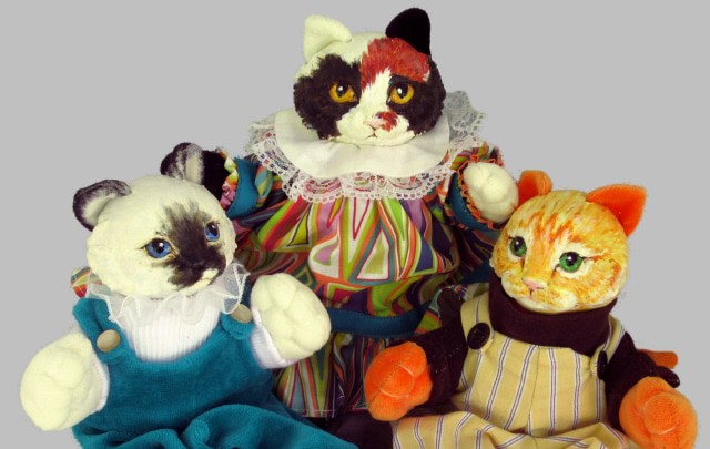 Kitten Dolls Made with Silky-Smooth Air Dry Clay