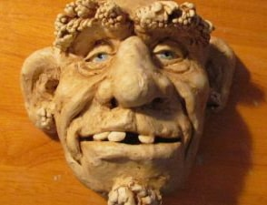 Sculpted face made with DIY Air Dry Clay