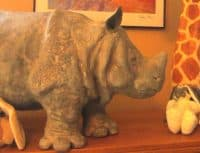 rhino made with air dry clay