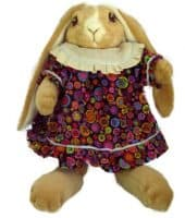 Yellow Lop-Eared Bunny Doll