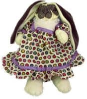 Gray-Spotted Lop-Eared Bunny Doll