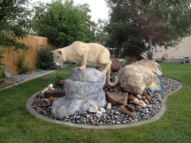 Julie's Mountain Lion Sculpture