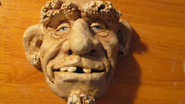 Sculpt a wild man face with jonni s air dry clay ultimate paper